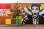 Muhammad Ali mural in Smoketown neighborhood, Louisville, KY